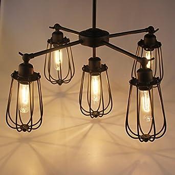 vintage country rustic dining room chandelier fixtures 5 heads. Black Bedroom Furniture Sets. Home Design Ideas