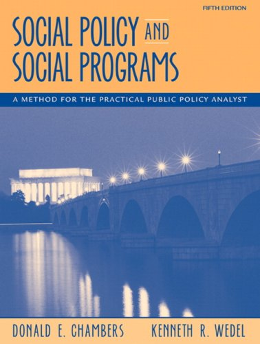 Social Policy and Social Programs: A Method for the...