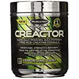 Creatina HCL MuscleTech Creactor de máxima potencia en polvo, 7.76 onzas, sabor lima limón