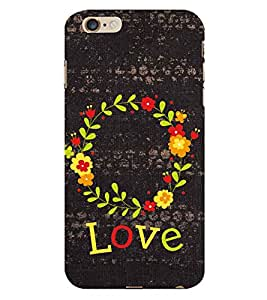 Fiobs Love Pattern Logo Phone Back Case Cover for Apple iPhone 6s