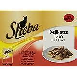 Sheba Delikates Katzenfutter Duo in Sauce, 48 Beutel (48 x 85 g)