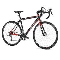 Giordano Libero 1.6 Road Bike, 700c, Black/Red, Small
