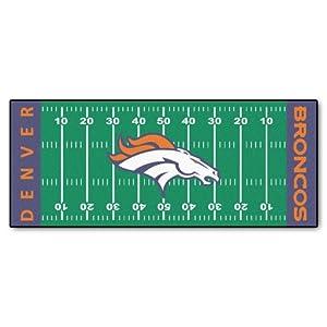 FANMATS NFL Denver Broncos Nylon Face Football Field Runner by Fanmats