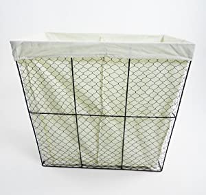 Black Metal Wire Mesh 2 Section Bathroom Bedroom Washing