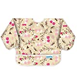 Bumkins Waterproof Sleeved Bib, Flutter Floral