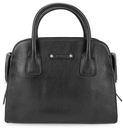 BOVARI Borsa donna - Sensual Bag - Dimensioni: 35(L)x27(A)x14(P)cm - Nero - vera pelle -