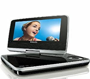 Philips PET742/05 7 Inch Portable DVD Player with Car Mounting Pouch - Black