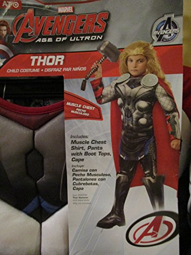 Avengers Thor Child Boys Halloween Costume, Size Large (ages 8-10) Muscle Chest (Thor Muscle Toddler Costume)