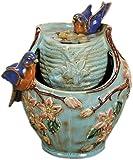 Nature's Garden Tabletop Garden Fountain, Blue Bird