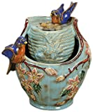 Natures Garden Tabletop Garden Fountain, Blue Bird