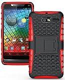 NAKEDCELLPHONE RED GRENADE RUGGED SKIN HARD CASE COVER STAND FOR VERIZON MOTOROLA DROID RAZR-M XT907 / XT901 / RAZR i XT890