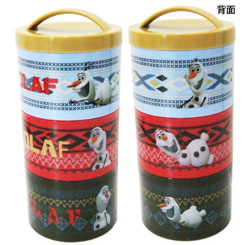 Disney ディズニーアナ and snow Queen OLAF over the type of 3-stage ceremony lunch box 480 ml