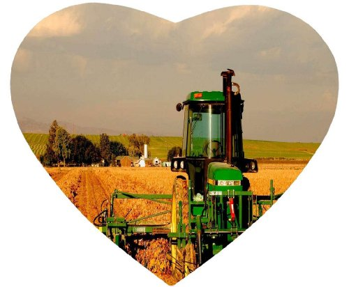 Hot Sale Customize Mouse Pad Heart Shaped Tractor In Field