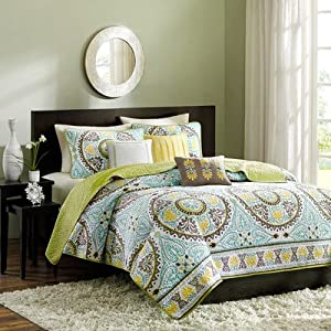 Samara 6 Piece Coverlet Set Size: King