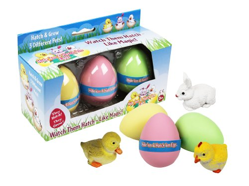 Easter Eggs - Hide 'Em and Hatch 'Em Eggs - Watch Them Hatch Like Magic Three Different Pets!