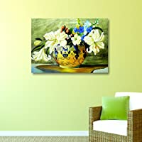 House Things Flower Pot Canvas Print 29 X 20.56, Inches Wall Décor Art