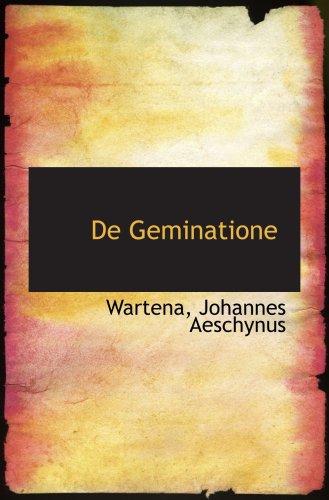 De Geminatione (Latin Edition) PDF