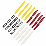 RealAcc 6 Pairs Gemfan 5030 CW CCW ABS Propellers For ZMR250 QAV250 280 180 RC Multirotors