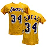 Shaquille O'Neal Los Angeles Lakers Mitchell & Ness Hardwood Classics Name & Number T-shirt (XL)