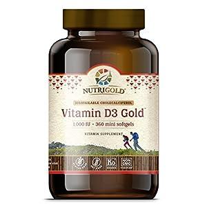 Vitamin D3 1000 IU, 360 Mini Softgels