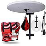 Onex Adjustable Wall Mounted Speed Ball Platform Set for Fitness Boxing Punch Bag Speedball Sparring with Free Adult Bag Mitts