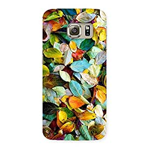 Premium Beautiful Colorfull Leafs Back Case Cover for Samsung Galaxy S6 Edge