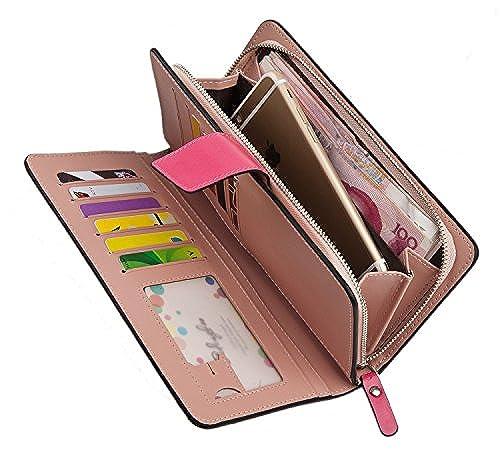 11. Foryee® Multi-purpose Womens PU Leather Clutch Wristlet Wallet Handbag