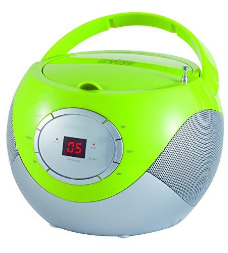 Tragbares CD-Radio Kinder CD-Player Radio Boombox Musikanlage Stereoanlage Grün