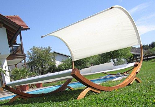XXL Sonnenliege Doppelliege Gartenliege Hängematte Doppel Liege Gartenmöbel extrabreit für 2 Personen Modell SAONA von AS-S