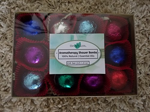 Luxury Shower Steamer Essential Oil Gift Set - contains 12 - 1.6 oz each - foil wrapped (Steamer Oil compare prices)