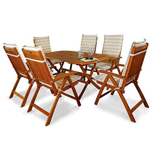 indoba ind 70064 base7 ind 70411 auhl serie bangor gartenm bel set 13 teilig aus holz fsc. Black Bedroom Furniture Sets. Home Design Ideas