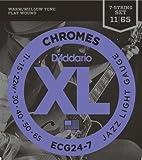 【国内正規品】D'Addario ダダリオ エレキギター弦 フラットワウンド Jazz Light 7弦 (11-65) ECG-24-7