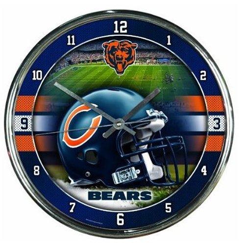 NFL Chicago Bears Chrome Clock