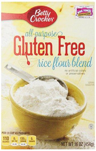 Betty Crocker All Purpose Gluten Free Rice Flour Blend, 16 oz, 6 Pack