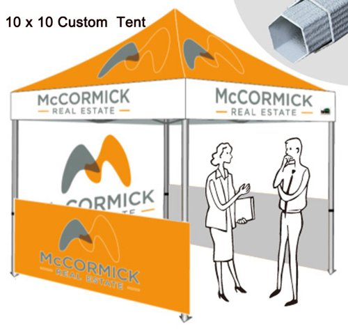 Eurmax 10X10 Pop Up Canopy Digital Print Event Canopy Custom Graphics Protable Booth Canopy Booth front-1073650