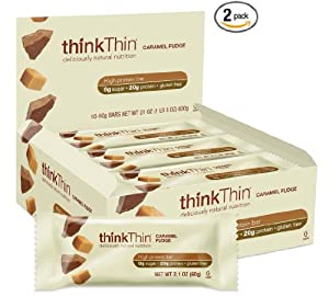 thinkThin Caramel Fudge (Pack of 10) , 2 Pack