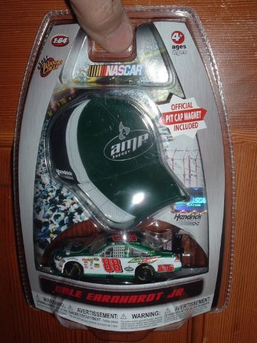 Dale Earnhardt Jr #88 AMP Energy Green White Chevy Impala SS COT 1/64 Scale Diecast & Bonus Mini-Replica Official Pit Cap Magnet 2010 Winners Circle Edition