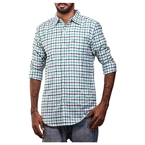 Polo Urban Polo Club Green Linen Shirt - Full Sleeve
