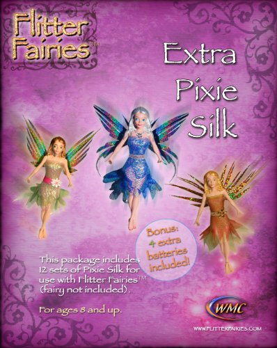 Flitter Fairies 12 Set Extra Pixie Silk Battery 4-Pack - 1