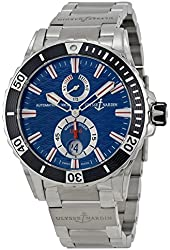 Ulysse Nardin Maxi Marine Diver Blue Dial Stainless Steel Mens Watch 263-10-7M-93
