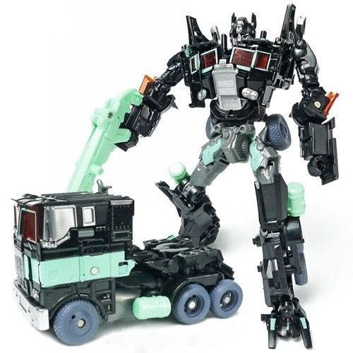 New Transformers Black Changeable Optimus Prime Human Alliance Action Figures #2