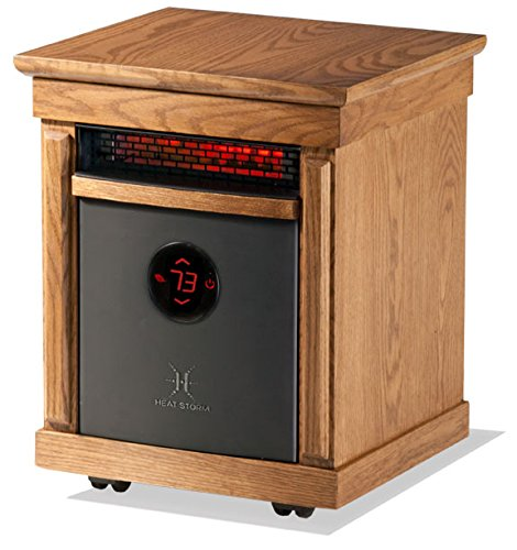 Heat Storm HS-1500-ISM Smithfield Portable Infrared Quartz Heater, Oak, 1-Pack