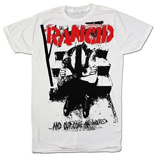 Rancid - Out Come The Wolves Huge Print White - Mens T-Shirt, Size: Medium, Color: White