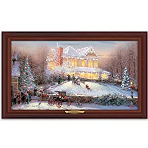 wall decor thomas kinkade victorian christmas