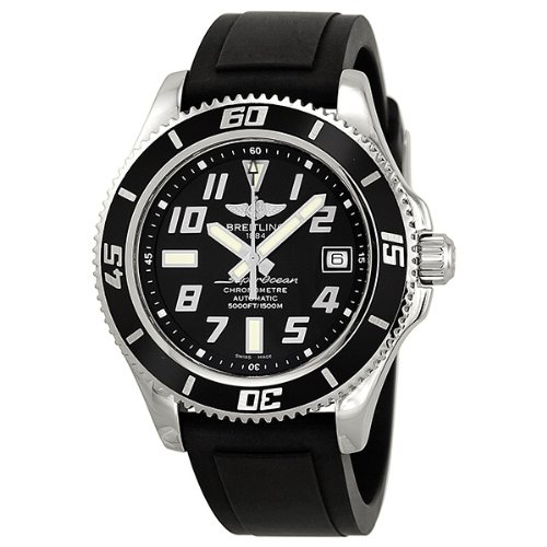 Breitling Superocean 42 Automatic Black Dial Stainless Steel Mens Watch A1736402-BA28