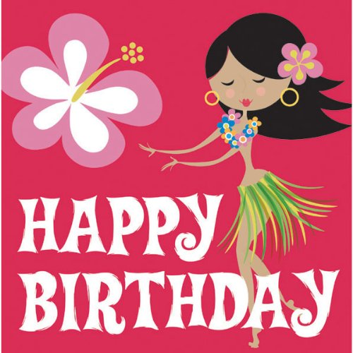 CREATIVE CONVERTING Let's Hula Birthday Luncheon Napkins