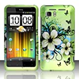 Cell Accessories For Less (TM) For HTC Vivid / Holiday (AT&T) Rubberized Design Cover - Hawaiian Flowers + Bundle (Stylus & Micro Cleaning Cloth) - By TheTargetBuys
