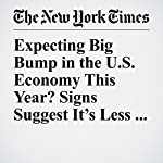 Expecting Big Bump in the U.S. Economy This Year? Signs Suggest It's Less Likely | Nelson D. Schwartz