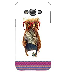 PrintDhaba Owl D-3316 Back Case Cover for SAMSUNG GALAXY GRAND 3 (Multi-Coloured)