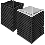 (30 Pack) MagicFiber® Premium Microfiber Cleaning Cloths - For Tablet, Cell Phone, Laptop, LCD TV Screens and Any Other Delicate Surface (29 Black, 1 Grey)